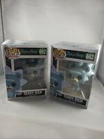 FUNKO POP TEDDY RICK FASCIST BEAR #662 RICK & MORTY FIGURE LOT OF 2 DMGD BOX