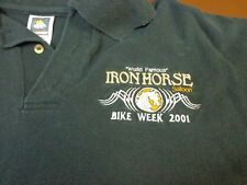 Iron Horse Saloon Bike Week 2001 World Famous Motorcycle Rally Polo Shirt XL
