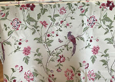 Laura Ashley Summer Palace Cranberry Fabric / Material x 7.5 Metres
