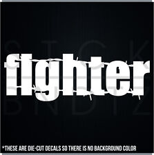 FIGHTER MUAY THAI USA MMA UFC FUNNY DECAL STICKER MACBOOK CAR WINDOW MOTORCYCLE