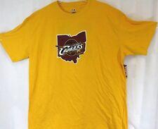 NEW Mens MAJESTIC Cleveland Cavaliers Lebron James #23 Big & Tall Golden T-Shirt
