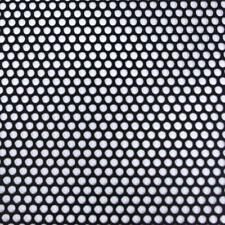 M-D Building Products 36 in. x 36 in. Small Hole Aluminum Sheet in Black Uss