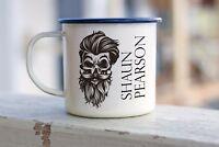 Beard Gift Trimmer holder Enamel Mug Personalised Grooming Shaving Gift for Him