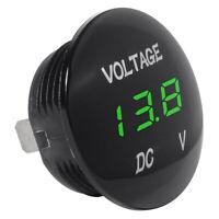 Voltage Meter Universal Voltmeter Digital Display Water Resistant LED Green D1N5