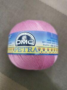 DMC PETRA Crochet Cotton No.5 53608 Pink Yarn Set 2 x 100g