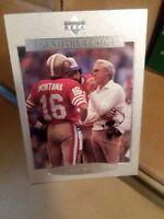 bill Walsh legendary leaders silver football card #130