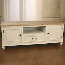 Entertainment TV Unit French Provincial Timber Top Antique White Media Unit NEW