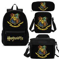Harry Potter 4Pcs Backpack Set Lunch Bags Sling Bag Pen Case Children Gifts Lot