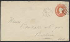 1902 #EN13 2c Victoria PSE, Newton (Perth) Ont General Merchant Oval On Back