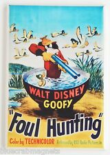Foul Hunting FRIDGE MAGNET (2 x 3 inches) movie poster goofy fowl duck hunting