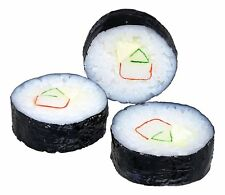 SUSHI ROLL Replica Food Prop, Set of 3, by Just Dough It