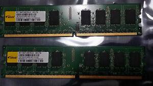 2x Elixir 1GB (2GB Total) PC2-6400  DDR2 Memory M2Y1G64TU88D7B-AC 0910 TW