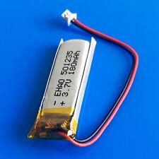 180mAh 3.7V Li Po Battery Cell 501235 for MP3 GPS Headphone JST 1.25mm Connector