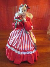 "Brinn's vintage porcelain CHRISTMAS DOLL ""Joy to the World"" in original box COA"