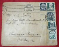 GERMANY HAMBURG OCTOBER 1 1935 COVER TO LOURENCO MARQUES