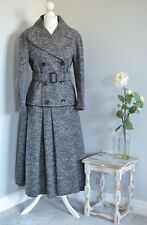 BURBERRY Prorsum grey tweed wool blend trench/mac belted coat IT 42 UK 10