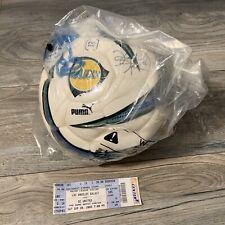 Vintage LA Galaxy Kevin Hartman #22 Autographed Puma Soccer Ball MLS PVC Free