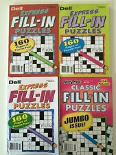 Lot of 4 Fill in ins Puzzles Penny Press Dell Express Variety $18.16 retail