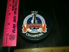 Pittsburgh Penguins 1992 Stanley Cup Champions NHL Hockey Puck