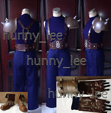 Dissidia Final Fantasy VII Cloud Strife Cosplay Costume+Shoes+Prop Custom-Made