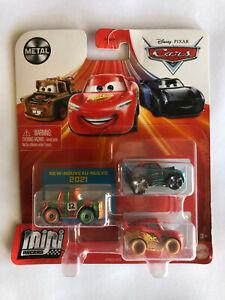 DISNEY PIXAR CARS MINI RACERS HIGH IMPACT, FISHTAIL, MUDDY LIGHNING McQUEEN