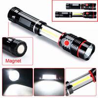 COB LED Zoom Taschenlampe Inspektion Arbeitlicht Flashlight Handlampe Super Hell