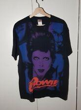David Bowie Big Print T-shirt Size XL RARE Vintage Concert Tour Rock Band 90s