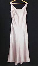 Montage Dress Eveing Gown 100% Silk Satin Sleeveless Maxi Beading Trim Size 16