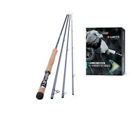 Shakespeare Agility 2 4 Piece Fly Fishing Rods 8ft 6' - 11ft & Free Greys Line