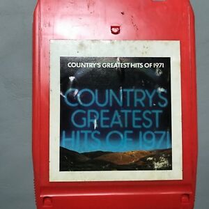 8 TRACK STEREO TAPE Countrys Greatest Hits of 1971 Music music