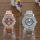 Women Men Bling Stainless Steel Quartz Rhinestone Crystal Wrist Watch Unisex