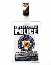 Batman Gotham Police Parking Permit ID Badge Cosplay Prop Costume Comic Con