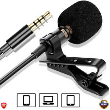 Clip on Professional Lavalier Microphone Lapel Omnidirectional For Smartphones