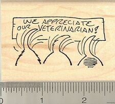 Dog Tail Wagging Vet Appreciation rubber stamp H10305
