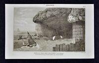 1859 Didot Freres Print - Geology Fingal's Cave Staffa Scotland Basalt Columns