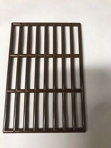 Lego Bar 9x13 Grille Piece Dragon Knight Kingdom Fright Castle Door Brown Pirate