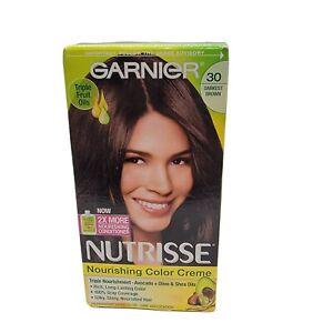 Garnier Nutrisse Nourishing Hair Color Creme 1 kit 30 Darkest Brown NEW
