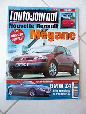 L'Auto-Journal 2002 No 598 Renault Megane Citroen C3 Avantime DCI Corvette XK8