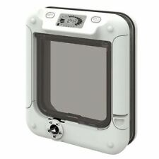 CAT MATE 359W TIMER CONTROL CAT FLAP PET DOOR 5 WAY SMALL WHITE LOCKABLE ENTRY