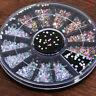Colorful Nail Art Rhinestones Glitters Acrylic Manicure Nail Tips Decoration HOT