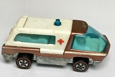 Hot Wheels Redline 1969 Heavyweights Ambulance Copper w/ White Interior!