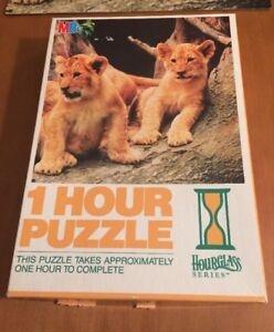 MB Puzzles Hourglass Series 1 Hour Puzzle Called Lion Cubs