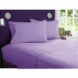 1000 TC EGYPTIAN COTTON BEDDING 3 PCs FITTED SHEET LILAC COLOR