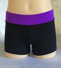 Supplex Spandex Shorts - Girl Sizes - dance, gymnastics, Cheer, activewear