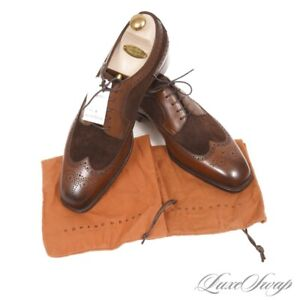 NWOB #1 MENSWEAR Edward Green England Mink Oak Harrogate Wingtip Shoes 11.5 12
