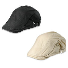 2pcs Mens Womens Cotton Flat Cap Ivy Gatsby Newsboy Hunting Driving Hat Cap