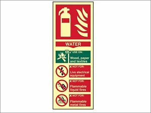 Scan - Fire Extinguisher Composite Water - Photoluminescent 75 x 200mm