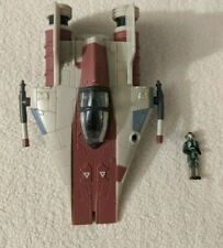 Star Wars Micro Machines Action Fleet A-Wing Fighter Galoob w/Pilot