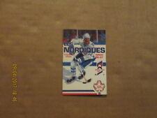 NHL Quebec Nordiques Vintage Defunct Circa 86-87 Logo Hockey Pocket Schedule