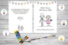 Personalised Childrens Kids Wedding Activity Pack Book Favour Cute Bride AB1
